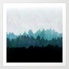 Woods Abstract  Art Print by Mareike Böhmer Graphics - $20.00
