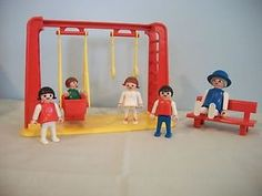 Vintage Playmobil! We had this set! Still have it somewhere #playmobil #park #swings
