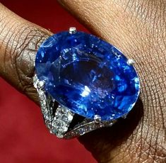 Blue is the Warmest Color with this Impressive Ceylon Sapphire. Jewelry Tools, Jewelry Rings, Jewlery, Jewelry Accessories, Fine Jewelry, Jewelry Design, Ceylon Sapphire Ring, Blue Sapphire Rings, Sapphire Jewelry