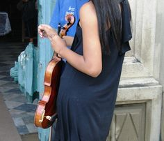 A violinista.