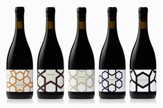 The Best of BP&O - Wine Packaging: Packaging design by Cloudy Co. for Yarra Valley boutique wine label Jamsheed Wine Bottle Design, Wine Label Design, Wine Bottle Labels, Wine Brands, Bottle Packaging, Wine And Spirits, Wine Gifts, Packaging Design Inspiration, A Boutique