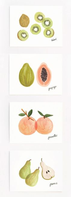 'Assorted Fruit' card set by Rifle Paper Co.: