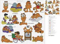 Borduurpatroon Funny Cartoon *Cross Stitch with Funny Cartoon ~Garfield~