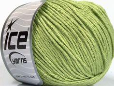 Bahar - Yaz İplikleri Yazlık İplikler Pamuk Bambu Natural Yarn Double Knitting Açık Yeşil  İçerik 60% Bambu 40% Pamuk Light Green Brand Ice Yarns fnt2-50543 Ice Yarns, Bamboo Light, Cotton Lights, Fiber, Green, Content, Low Fiber Foods