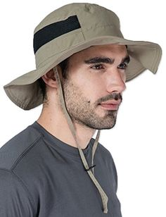 Outdoor Boonie Sun Hat - UPF 50 Protection for Men & Women. Wide Brim Summer Hat. Waterproof for Fishing, Hiking, Camping, Boating & Outdoor Adventures. Breathable Nylon & Mesh.