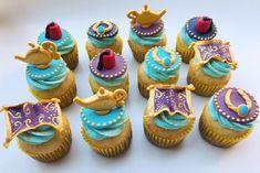Aladdin Birthday Party, Aladdin Party, Wild One Birthday Party, Birthday Cake Girls, Disney Cupcakes, Mini Cupcakes, Cupcake Cakes, Princess Jasmine Cake, Cinderella Princess