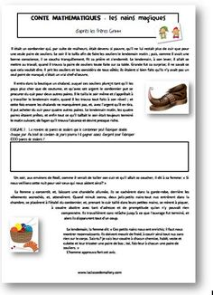 Les contes mathématiques Teaching Math, Teaching Resources, School Organisation, 12th Maths, Montessori Math, Cycle 3, French Teacher, School Hacks, Math Classroom
