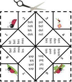 Vouwdobbelsteen met de letter e - Digibord Onderbouw