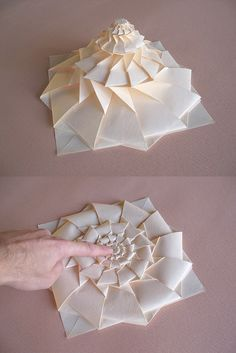 Maniacs: Origami Flower Tower By Chris Palmer 48 minute tutorial, looks incredibly difficult, but so cool, and it looks like a good tutorial. Good activity for prison life. Origami Design, Diy Origami, Origami Modular, Origami Paper Folding, Origami And Kirigami, Origami Stars, Origami Tower, Dollar Origami, Origami Ball