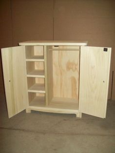 @Alwilda Dugger   This is what Brian needs to make next  18 inch american girl doll armoire - raw 2 open
