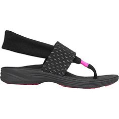 225530d8e24 Vionic Serene Tia - Womens Active Sling Orthotic Sandal Black - Stretch  fabric uppers with a relaxed fit. Slingback strap with fabric toe post.