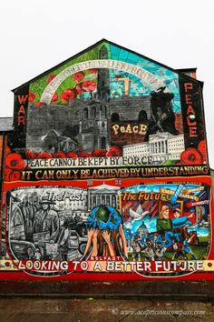 'Being in Belfast!': Places to visit in A day in Belfast! Shankhill road full of murals, the Titanic museum fully renovated and many more amazing places! Visit Belfast, County Cork Ireland, Galway Ireland, Ireland Vacation, Ireland Travel, Belfast Murals, Titanic Museum, Ireland Culture, Viajes
