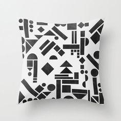 Geometry 1 pillow by Mareike Böhmer Graphics. http://design-milk.com/fresh-dairy-shape-pillows/