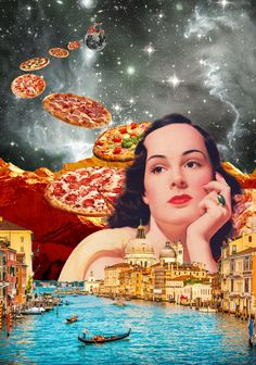 I am dreaming of the Pizza Fairy. Annette von Stahl collage