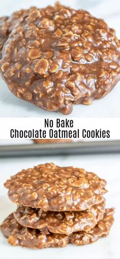 This easy No Bake Chocolate Oatmeal Cookie is a delicious no bake cookie recipe that is gluten-free, Oatmeal No Bake Cookies, Healthy No Bake Cookies, Quick Cookies, Oatmeal Cookie Recipes, Peanut Butter Cookie Recipe, Oatmeal Chocolate Chip Cookies, Easy Cookie Recipes, Chocolate Chips, Easy No Bake Recipes