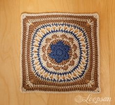 Loopsan: One Block A Week CAL: Week 1 - 'Odyssey Square' by Letitia Sherriff - with pattern link.
