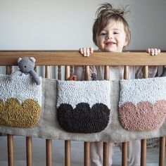 Crib pockets make nap time . Crib pockets make nap time . Punch Needle Patterns, Ideias Diy, Punch Art, Rug Hooking, Textile Design, Fiber Art, Little Ones, Hand Embroidery, Kids Room