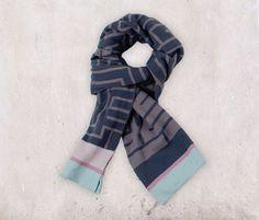 Knitted Scarf – Design Geometric   Aspegren