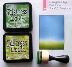 Background Tutorial - distress ink and blending tool - bjl