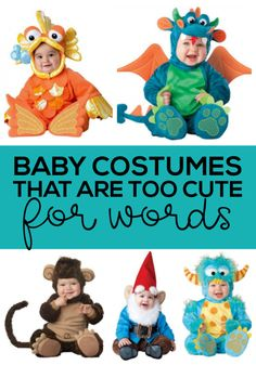 Baby costumes that are too cute for words- perfect for Halloween…