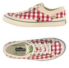 Yep! Gingham...so stinkin' cute! I've got to get these to wear with jean capris and a white top tied at the waist!