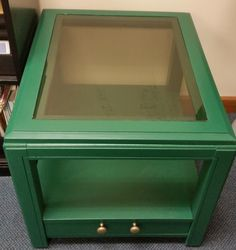 End Table with glass top