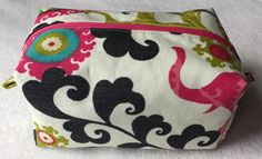 Cosmetic zippered box pouch by LexieLooo on Etsy https://www.etsy.com/listing/221086661/cosmetic-zippered-box-pouch
