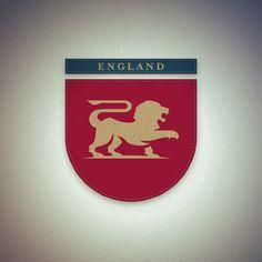 The amazing work of Fraser Davidson- National Identities Brand Identity Design, Logo Design, Graphic Design, Design Campaign, Great Logos, Stationery Design, Design Crafts, England National, Logo Branding