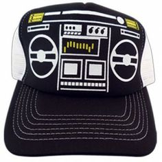 Boombox Mesh Trucker Hat for Baby Jack