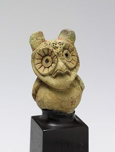 Figure of an Owl, Moche culture, Peru.3-6th C, bone