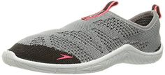 Speedo Women's Surf Knit Athletic Water Shoe, Grey/Neon Pink, 8 C/D US -- For more information, visit image link.