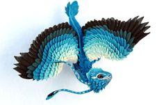 MADE TO ORDER Little Dragon cute figurine blue by DemiurgusDreams, $380.00