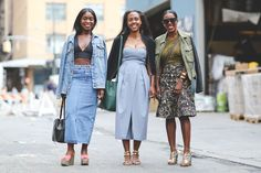 An on-point trio. #refinery29 http://www.refinery29.com/2015/09/93788/ny-fashion-week-spring-2016-street-style-pictures#slide-124
