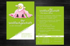"""Für das Handarbeitsgeschäft """"Die kleine Börse"""" in Schwalmstadt Ziegenhain überarbeiteten wir deren Flyerdesign. http://www.seiten-wechsel.org"""