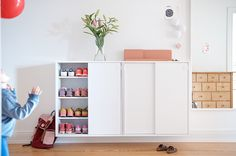 A shoe cabinet brings order to the chaos and the old building. Hall Closet Organization, Shoe Organizer Entryway, Ikea Kitchen Organization, Modern Scandinavian Interior, Entry Hallway, Hallway Ideas, Shoe Cabinet, Hallway Decorating, Closet Bedroom