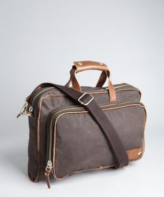 Property Of... : cocolate waxed canvas and leather 'Arnald' messenger bag : style # 321616501