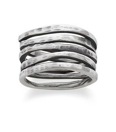 Stacked Hammered Ring | James Avery