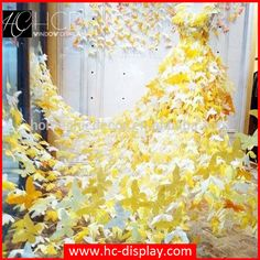 Hanging acrylic butterfly with mannequin for shop window decoration | HC-DISPLAY │Window Display Customized & Props, Visual Merchandising, Mannequins, Fiberglass Furniture
