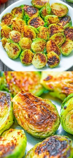Fork-tender Pan Fried Brussels Sprouts ready in 15 minutes. It makes a perfect side dish for any occ Cooking Dishes, Food Dishes, Cooking Recipes, Blog Food, Food 101, Best Vegetable Recipes, Vegetable Side Dishes, Pan Fried Brussel Sprouts, Brussels Sprouts