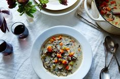 Vegan Cream of Mushroom and Wild Rice Soup recipe on Food52