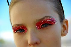 Christian Dior Jeweled Eye Make Up. Runway Makeup spring/summer 2013. Click through for all the beautiful colour options!