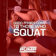 Good things come to those who SQUAT.  #lesmillspump #bodypump