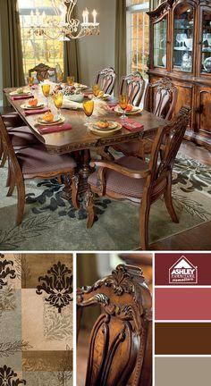 Comedor Ledelle - ¡Te encantará el look tradicional que impregnará este comedor en tu hogar!