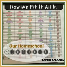 Lextin Academy of Classical Education: What's on Our {Homeschool} Schedule? - Here's how we fit in school and playtime into our busy days!