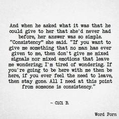 ~ Consistency