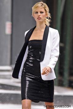Karolina Kurkova at a photoshoot in New York City, New York - May 4, 2012