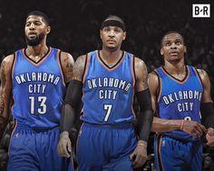 Paul George Carmelo Anthony Russell Westbrook OKC Oklahoma City Thunder