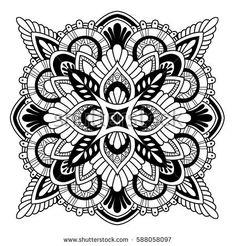 Mandala vector ornament. Vintage decorative elements. Hand drawn oriental illustration. Tribal motifs.