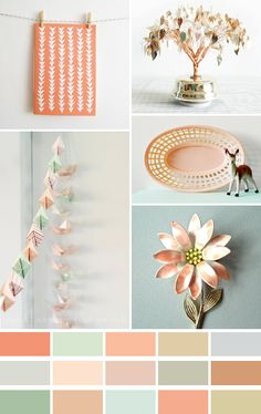 Color Palette from Emma Lamb: http://emmallamb.blogspot.com/2011/07/colour-palette-peachy-keen.html