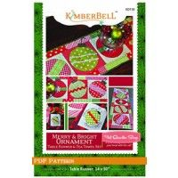 Merry & Bright Ornament Table Runner Downloadable PDF Pattern Kimberbell Designs